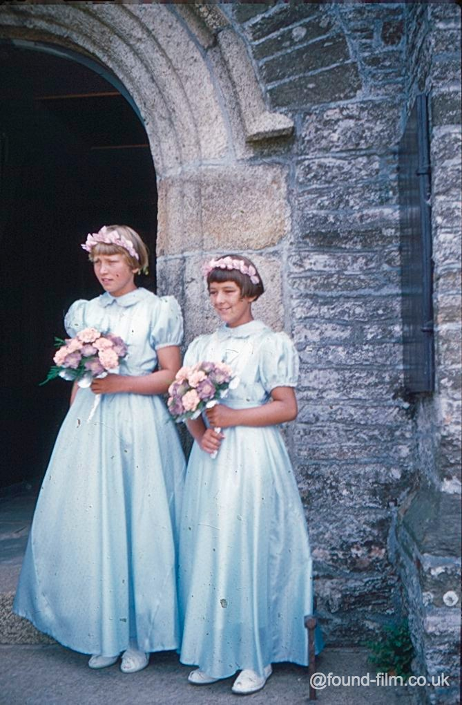 Bridesmaids at a Wedding in the 1950s