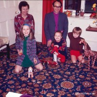 Family with young children at home