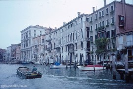 Lakeside buildings in Venice, Italy