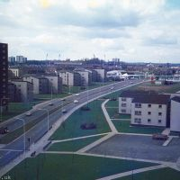 A housing estate in the 1970s