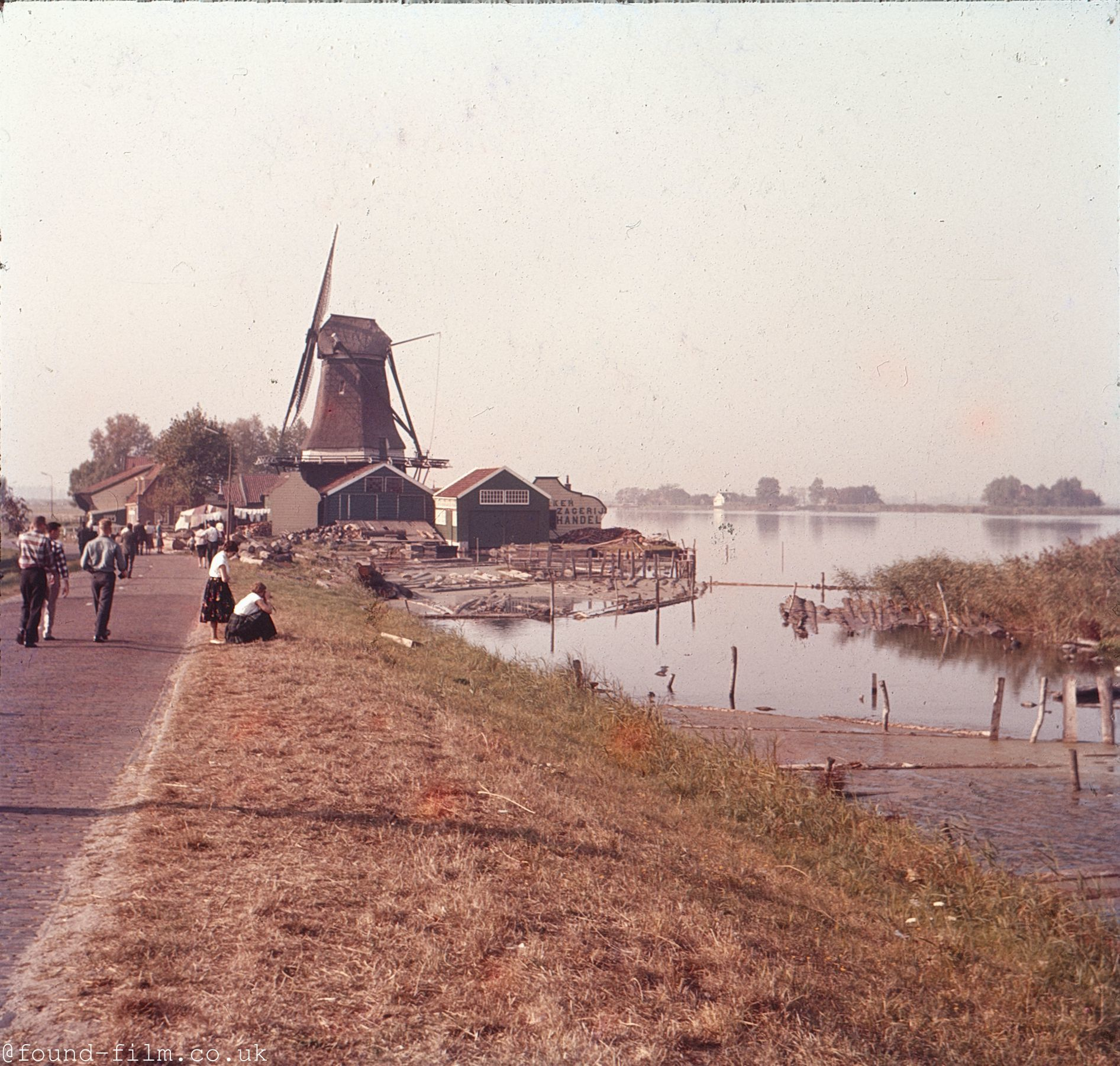A Windmill in Holland in the 1960s