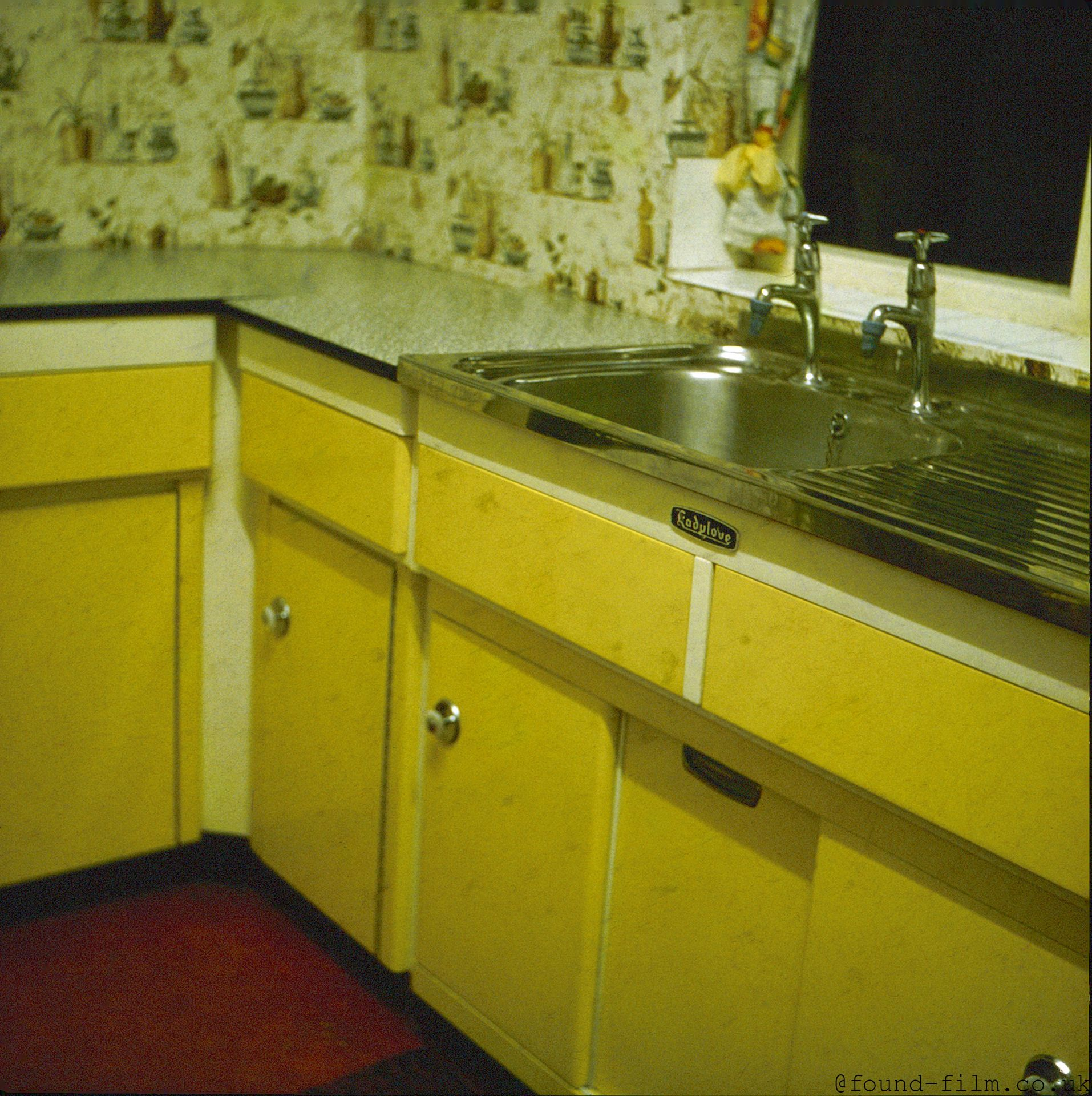 The Kitchen Sink from a 1960s house