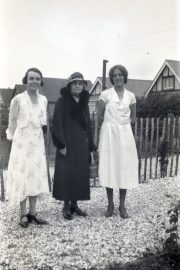 Three ladies in their garden from about 1930