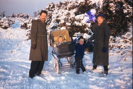 A Family in the Snow from 1959