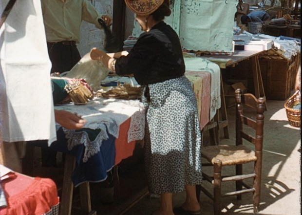 A market stall in Spain in 1958