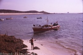 Boat near the beach in the Scilly Isles