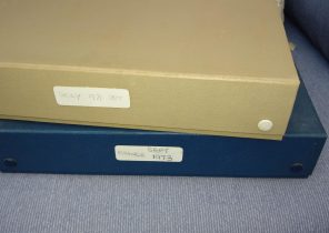 A Picture of Slide boxes from France and Sicily which are part of a large dotation to found-film