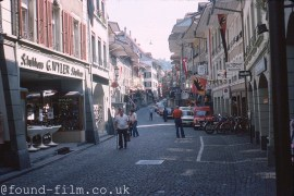 A Street in the town of Thun in Switzerland Oct 1977