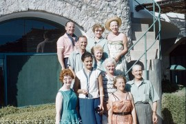 Group photo with 'Our Gracie' - Gracie Fields, 1959