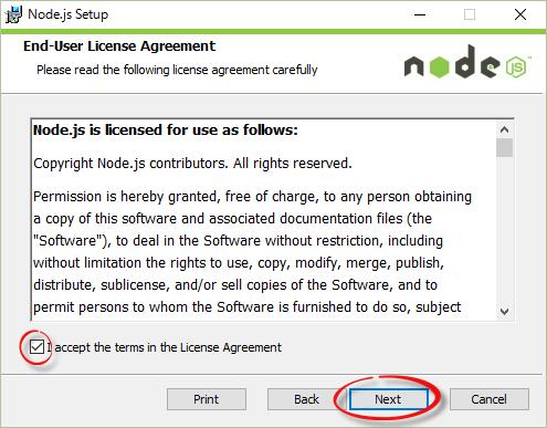 Node.jsのインストール3