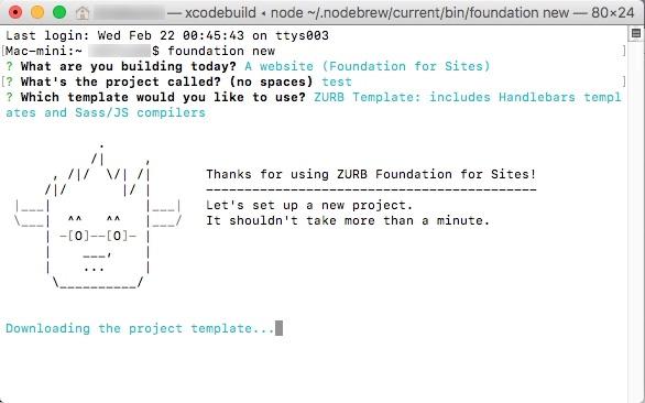 Foundation 6 Projectのイメージです