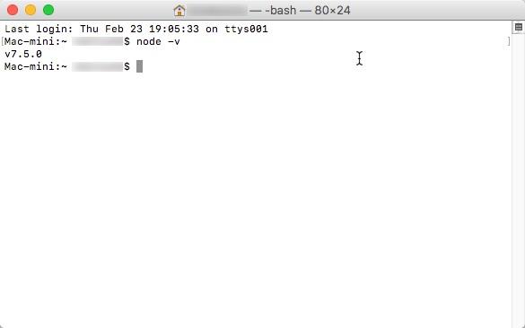 Node.js profile作成後イメージです