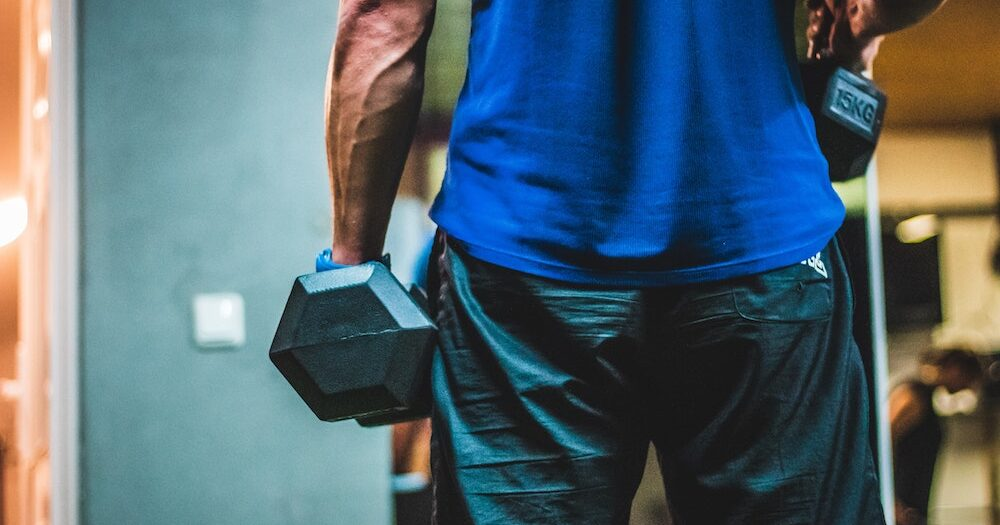 Man with weights
