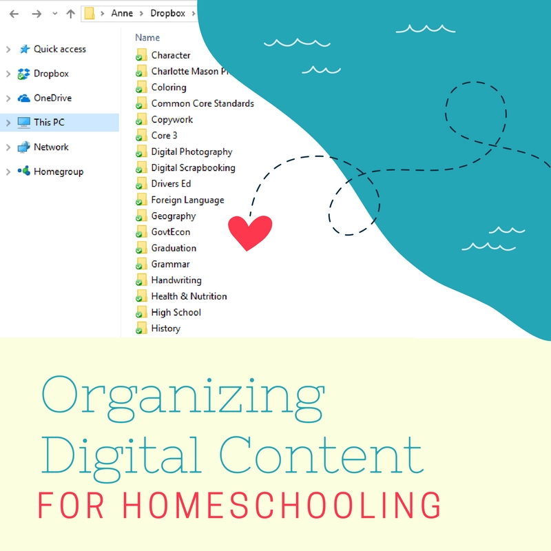How to Organize Digital Content for Homeschooling