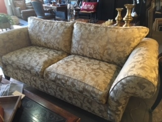 armless white leather sofa sectional sofas austin consignment furniture, found interiors - furniture ...