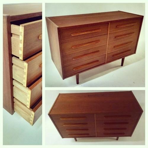 8-Drawer Teak Dresser