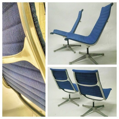Pair of Eames Loungers