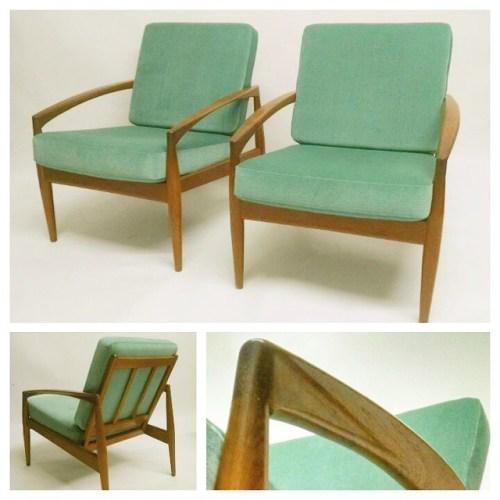 Pair of Kai Kristiansen Lounge Chairs