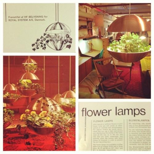 Copper finish Flower Lamp