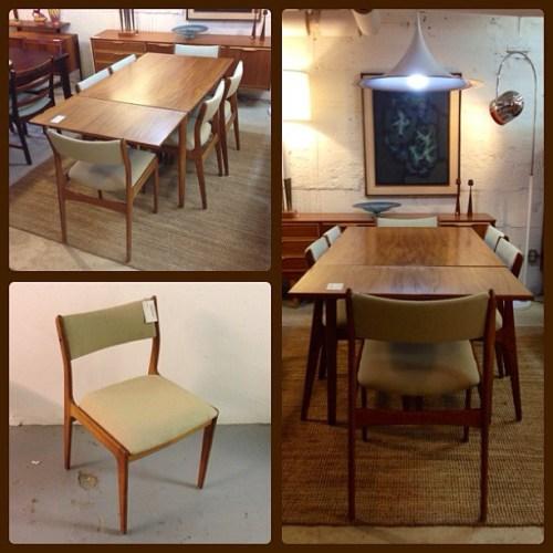 Danish Table + Six Chairs