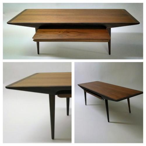 Sliding Shelf Teak Coffee Table