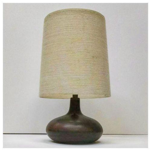 Lotte Lamp in Tenmoku Glaze