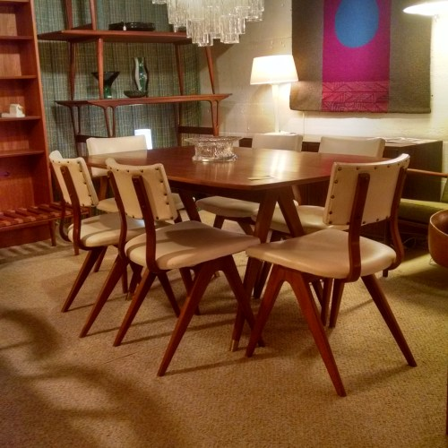 Walnut Table & Chairs