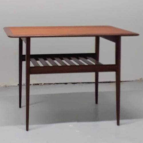 Slat Shelf Table