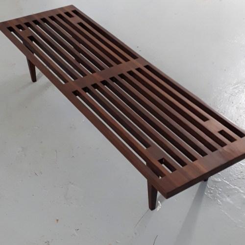Afromosia Slat Bench