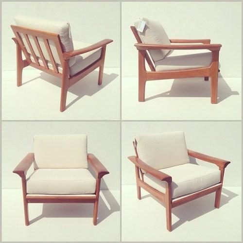 Teak Modular Lounge Chair w/ Arms
