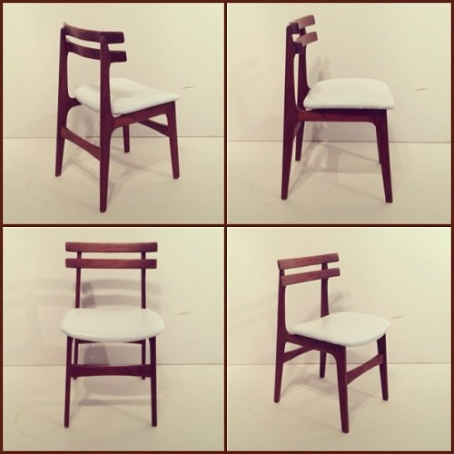 x4 Solid Afrormosia Huber Dining Chairs