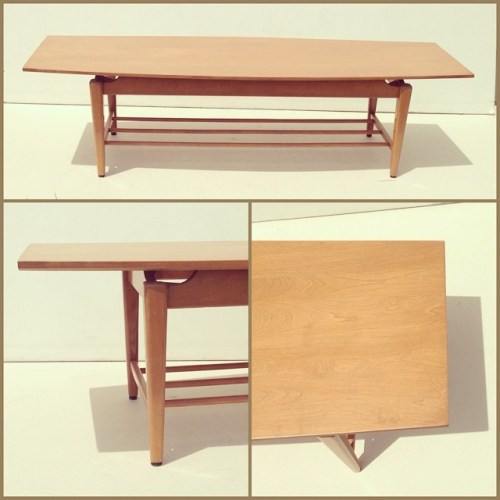 Solid Yellow Birch Coffee Table