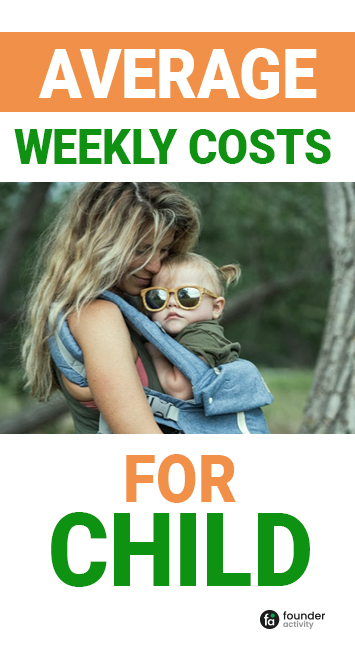 average weekly costs for child