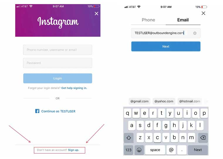 Instagram Marketing Strategy For Small Business how to Sign up to instagram