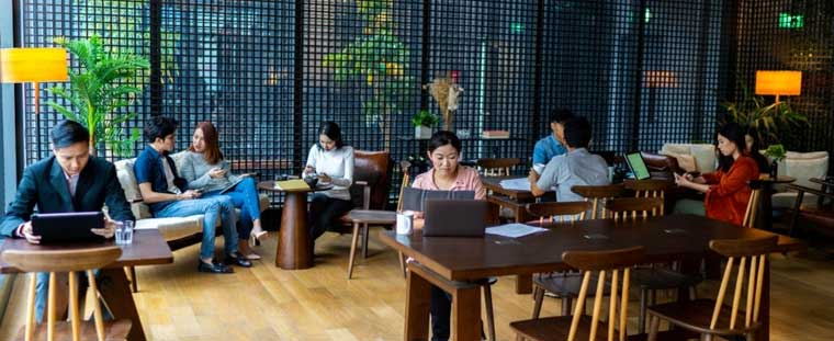 Marketing Campaign For Coworking Space Membership Perks free working workers