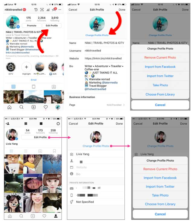 Instagram Marketing Strategy For Small Business Picking the right profile photo how to change profile picture in instagram