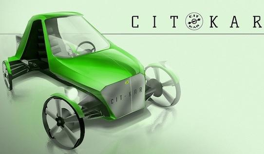 So soll das CitKar einmal aussehen, wenn es im Winter dieses Jahres auf den Markt kommt.