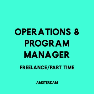Operations & program manager