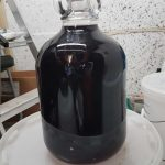 My Elderberry wine foraged booze