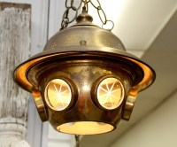 FOUND in ITHACA  Brass Divers Helmet Swag Lamp (SOLD)