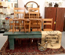 In Ithaca Antique Plank Seat Chairs Sold