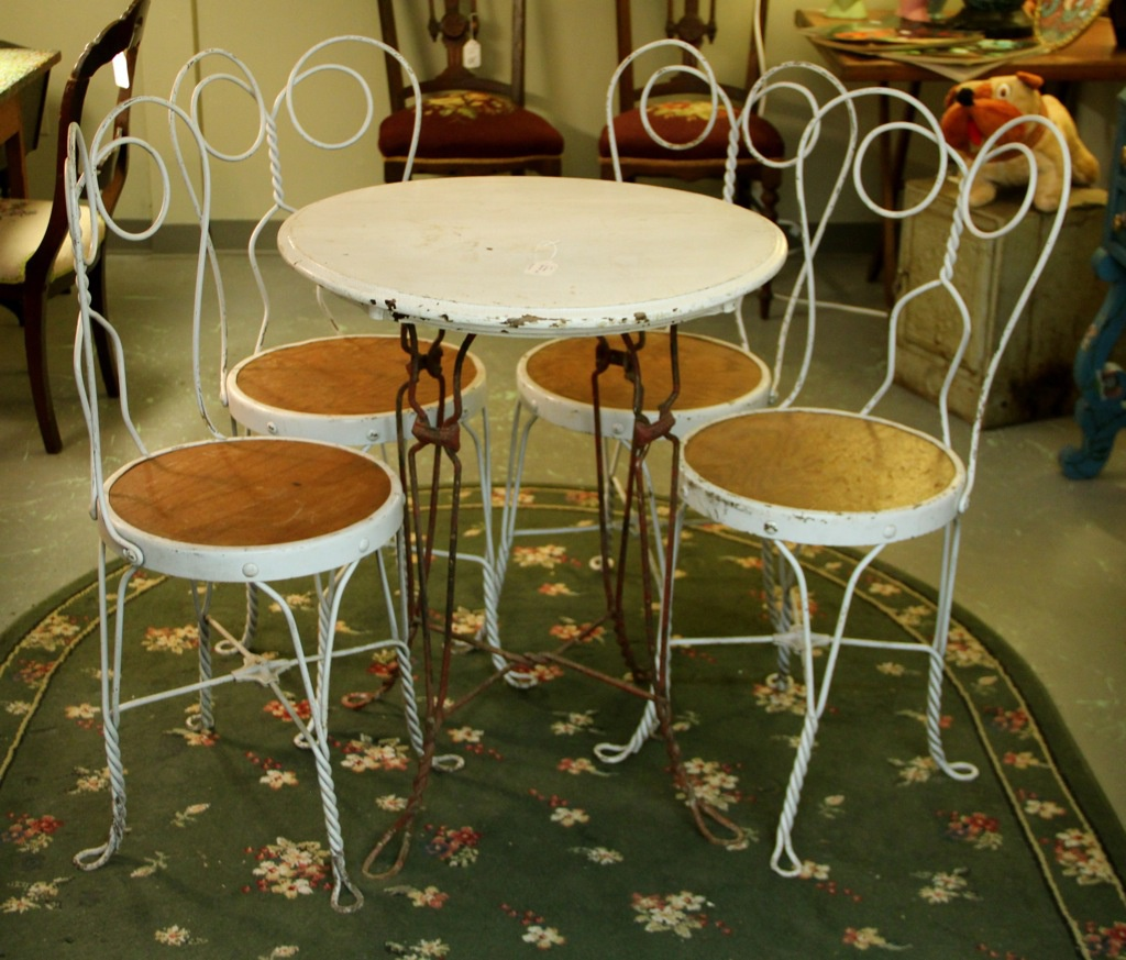 ice cream table and chairs argos wheelchair covers antique parlor furniture