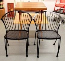 In Ithaca Pair Of Mid-century Modern Patio Chairs