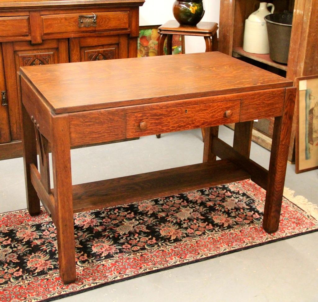 Found In Ithaca Antique Mission Quarter Sawn Oak Desk Ca 1915 Sold