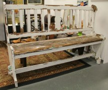 In Ithaca Rustic Antique Porch Bench Sold