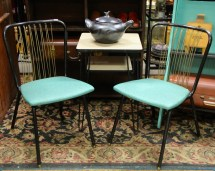 In Ithaca Pair Of Retro Chairs Sold Table