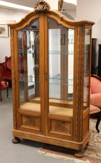 FOUND in ITHACA  Banyan Wood Curio Cabinet with Beveled ...