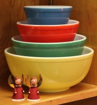 FOUND in ITHACA  Vintage Pyrex Primary Color Mixing Bowl ...
