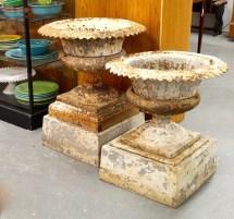 In Ithaca Antique Cast Iron Garden Urns Sold