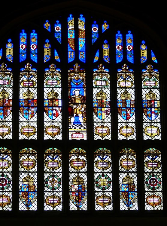 Stained Glass of Hampton Court Palace, England